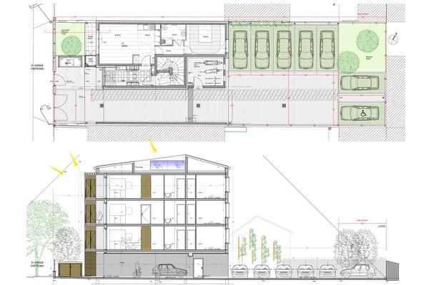 Drancy - Construction de 7 logements locatifs sociaux - plan